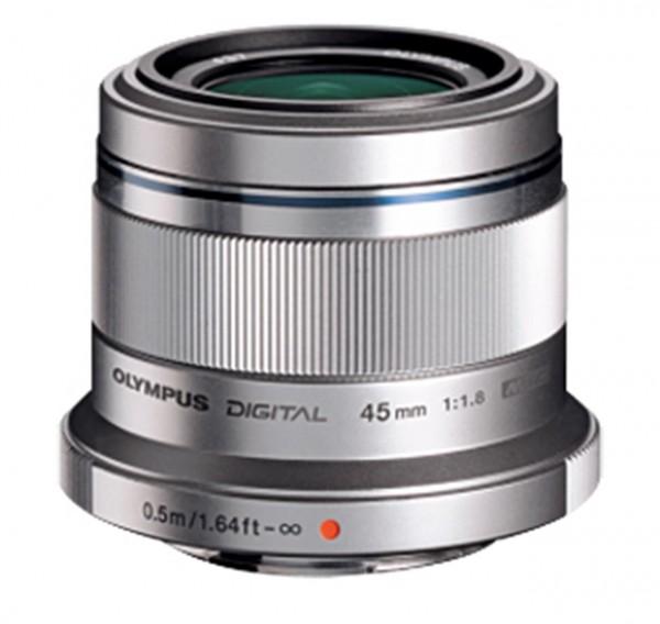 Objektiv M.Zuiko Digital 1,8 / 45 mm silber