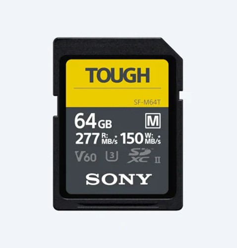 Sony SDXC-Karte 64 GB Cl10 UHS-II U3 V60 TOUGH, 277/150 MB/s