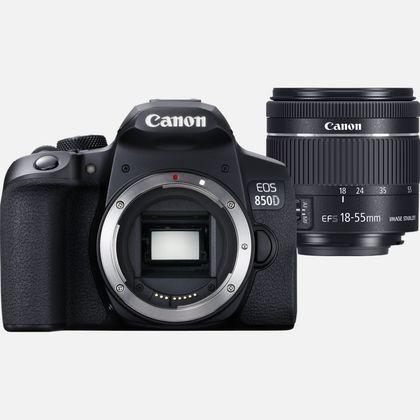 Canon EOS 850D SLR-Kamera-Set 24,1 MP CMOS 6000 x 4000 Pixel Schwarz