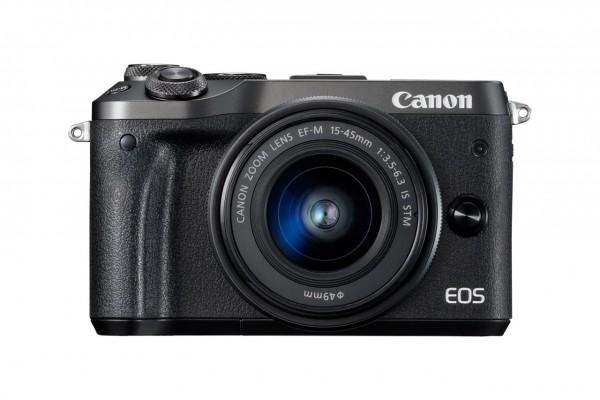 Canon EOS M6 + EF-M 15-45mm 3.5-6.3 IS STM Systemkamera 24.2MP CMOS 6000 x 4000Pixel Schwarz