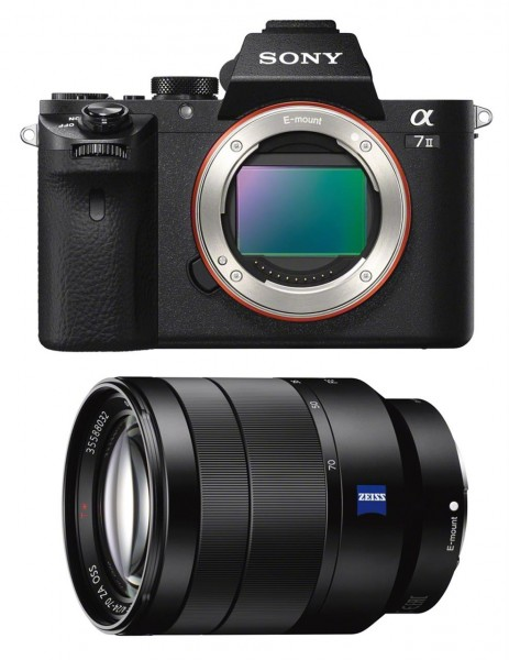 Sony Alpha ILCE-7 II+V.-Tessar 4,0/24-70 mm, schwarz, Zeiss-Kit