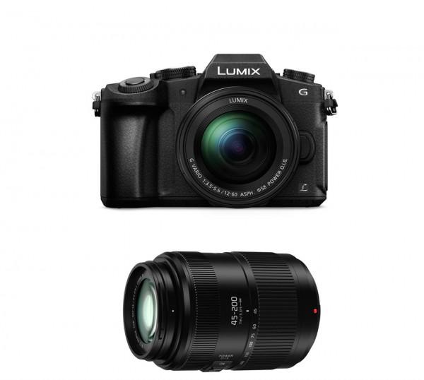 Lumix DMC-G81W Kit H-FS12-60 und 45-200 mm OIS