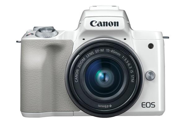 Canon EOS M50 + EF-M 15-45mm STM Systemkamera 24,1 MP CMOS 6000 x 4000 Pixel Weiß