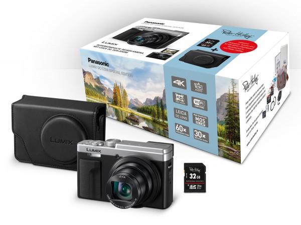 Panasonic DC-TZ96 silber Special Edition +PH 32GB SD Karte+Tasche