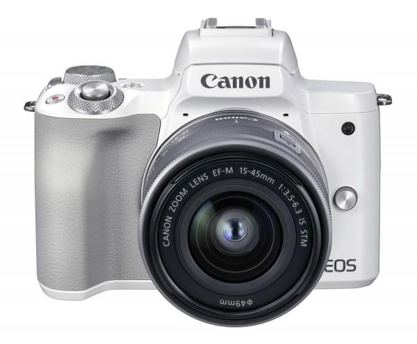 Canon EOS M50 II weiß+EF-M 15-45 mm IS STM Kamerakit