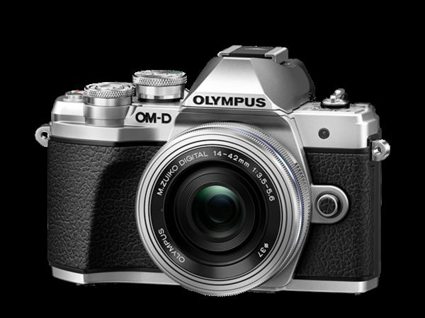 Olympus OM-D E-M10 III & ED 14-42 EZ silber Kit-Verpackung
