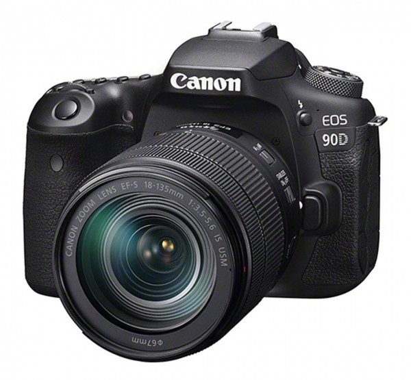 Canon EOS 90D + EF-S 18-135mm f/3.5-5.6 IS USM SLR-Kamera-Set 32,5 MP CMOS 6960 x 4640 Pixel Schwarz