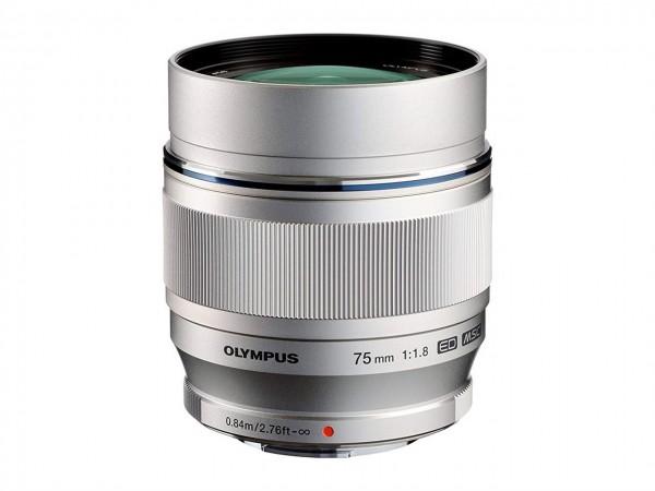 Olympus M.Zuiko ED 1,8/75 mm silber Digital Objektiv