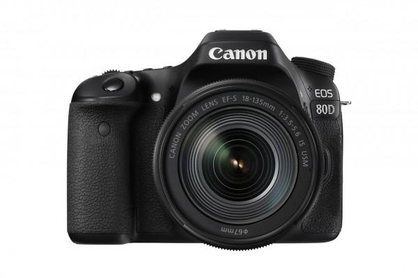 Canon EOS 80D + EF-S 18-135 IS USM SLR-Kamera-Set 24.2MP CMOS 6000 x 4000Pixel Schwarz