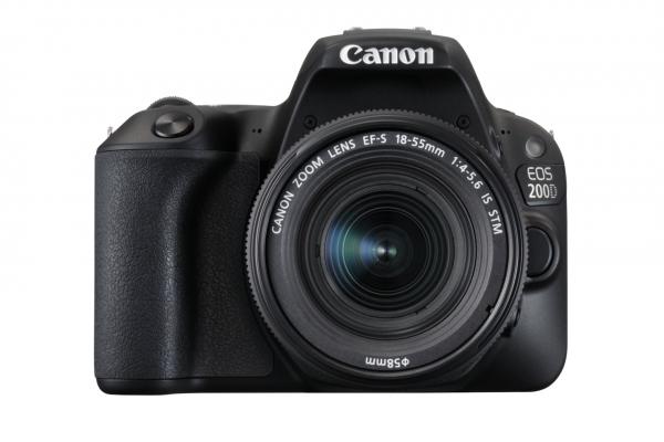 Canon EOS 200D + EF-S 18-55mm 4.0-5.6 IS STM SLR-Kamera-Set 24,2 MP CMOS 6000 x 4000 Pixel Schwarz