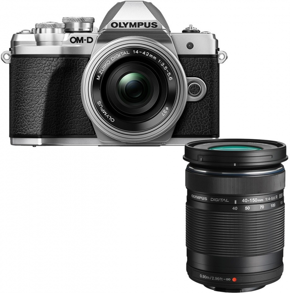 Olympus OM-D E-M10 Mark III Kit 14-42 mm EZ & 40-150 mm R silber