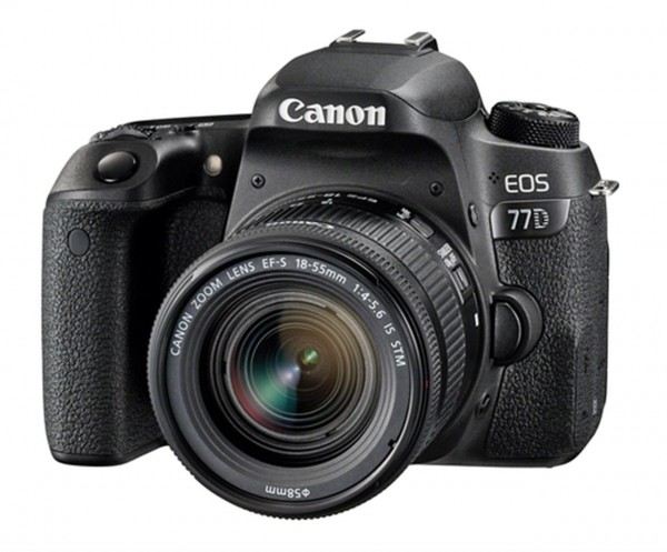 Canon EOS 77D + 18-55mm F4.0-5.6 IS STM SLR-Kamera-Set 24.2MP CMOS 6000 x 4000Pixel Schwarz