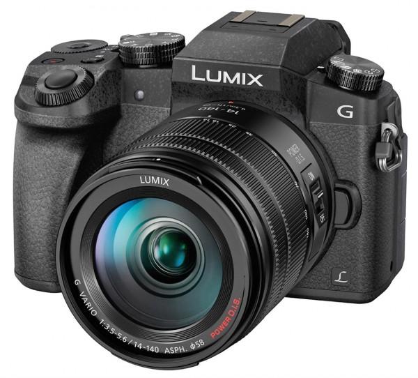 Lumix DMC-G70 inkl. Lumix G Vario 3,5-5,6 / 14-140 mm Power OIS schwarz