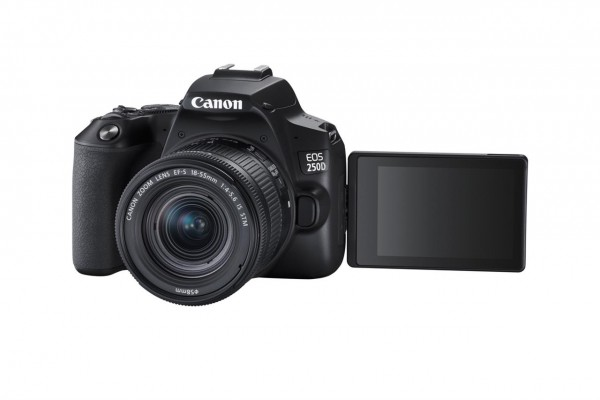 Canon EOS 250D + EF-S 18-55mm f/4-5.6 IS STM SLR-Kamera-Set 24,1 MP CMOS 6000 x 4000 Pixel Schwarz