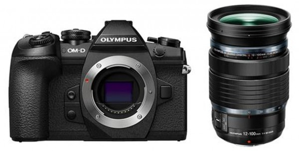 Olympus OM-D E-M1 Mark II + ED 4,0/12-100 mm PRO schwarz, Digitalkamera-Kit