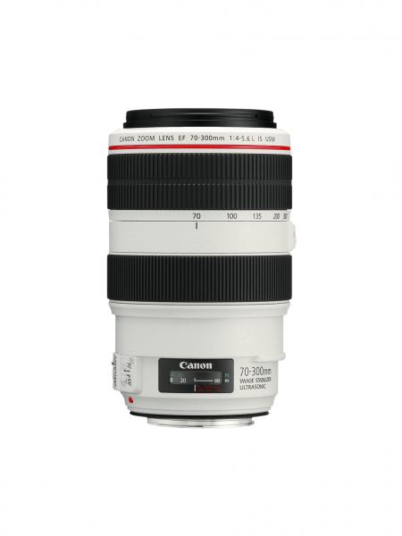 Canon EF 70-300mm f/4-5.6L IS USM SLR Teleobjektiv Schwarz, Weiß
