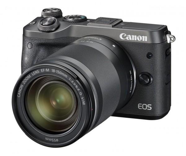 Canon EOS M6 + EF-M 18-150mm 1:3.5-6.3 IS STM Systemkamera 24.2MP CMOS 6000 x 4000Pixel Schwarz