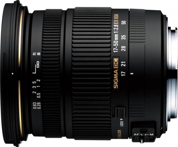 Objektiv 2,8 / 17-50 mm EX DC OS HSM Nikon-AF