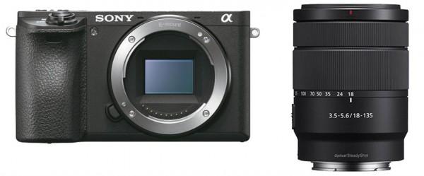 Sony Alpha ILCE-6500 + 18-135 mm OSS schwarz Systemkamera-Kit