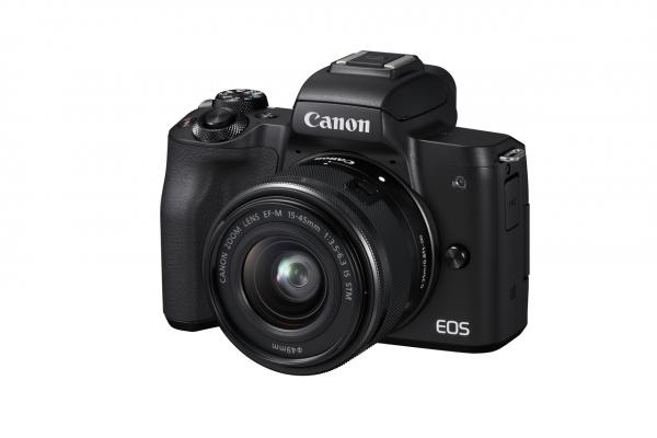 Canon EOS M50 + EF-M 15-45mm IS STM Systemkamera 24,1 MP CMOS 6000 x 4000 Pixel Schwarz